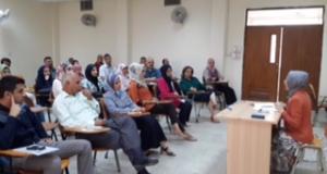 اجتماع العميد بمنتسبي كلية التقنيات الحيوية التطبيقية