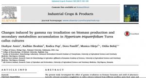 نشر بحث في مجلة المنتجات والمحاصيل الصناعية (ELSEVIER) العالمية