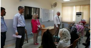 السيد عميد كلية التقنيات الاحيائية يلتقي بطلبة المرحلة الاولى
