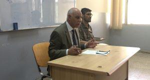 السيد عميد كلية التقنيات الاحيائية يلتقي مع منتسبي  الكلية بمناسبة بدء العام الدراسي الجديد