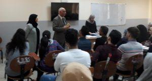 السيد عميد كلية التقنيات الاحيائية يلتقي بطلبة المرحلة الاولى للعام الدراسي 2018-2019