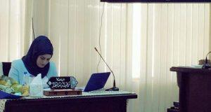 مناقشة  طالبة الماجستير رقية ماجد حسن عن رسالتها الموسومة (التوصيف الجزيئي والكيموحيوي لأنزيم البيتالاكتميز المنتج من العزلة المحلية لبكتريا المكورات العنقودية)