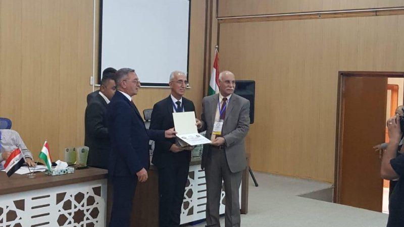 الاستاذ الدكتور كاظم محمد ابراهيم يشارك في أعمال المؤتمر الدولي الثالث لجامعتي الموصل ودهوك